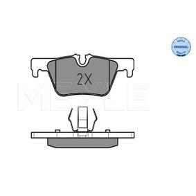 Bremsbelagsatz, Scheibenbremse MEYLE Art.No - 025 253 0717 OEM: 34216873093 für BMW, FORD, MINI, ALPINA kaufen