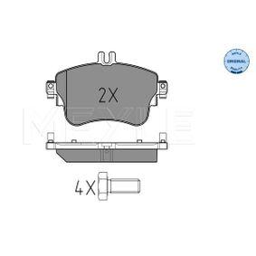 Bremsbelagsatz, Scheibenbremse MEYLE Art.No - 025 253 2619 OEM: 0064204820 für MERCEDES-BENZ kaufen