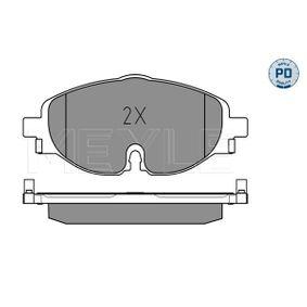 MEYLE Kit de plaquettes de frein, frein à disque 5Q0698151A pour VOLKSWAGEN, AUDI, SEAT, SKODA acheter