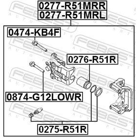 Kolben, Bremssattel 0276-R51R FEBEST
