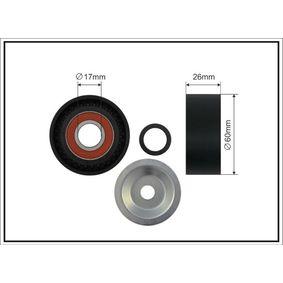Tensioner pulley, v-ribbed belt (03-94) producer CAFFARO for PEUGEOT 206 Hatchback (2A/C) year of manufacture 09/1998, 60 HP Online Shop