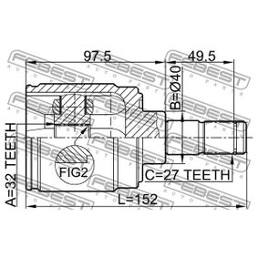 FEBEST Gelenk, Antriebswelle 44310S10A00 für HONDA bestellen
