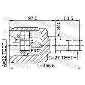 FEBEST Gelenk, Antriebswelle 44310SM4310 für HONDA bestellen