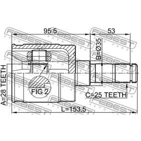 Външно каре 0311-GDLH FEBEST