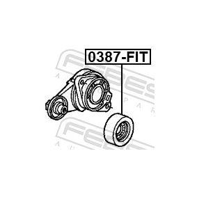 Rodillo tensor correa alternador 0387-FIT FEBEST