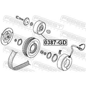 Tensioner pulley, v-ribbed belt 0387-GD FEBEST