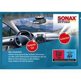 Μαντηλάκια καθαρισμού χεριών για αυτοκίνητα της SONAX: παραγγείλτε ηλεκτρονικά
