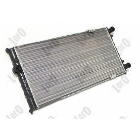 Ψυγείο, ψύξη κινητήρα ABAKUS Art.No - 046-017-0006 OEM: 6K0121253G για VW, SEAT, AUDI, SKODA, VOLVO αποκτήστε