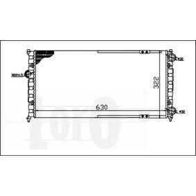 ABAKUS Ψυγείο, ψύξη κινητήρα 6K0121253G για VW, SEAT, SKODA, VOLVO Αγορά