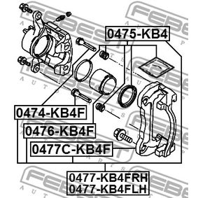 Bremssattel Reparatursatz 0474-KB4F FEBEST