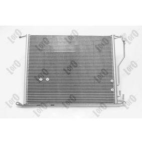 ABAKUS Kondensator, Klimaanlage 2205001054 für MERCEDES-BENZ, VOLVO bestellen