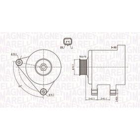Generator MAGNETI MARELLI Art.No - 063731761010 OEM: 96463218 für PEUGEOT, CITROЁN, SUZUKI, TVR kaufen