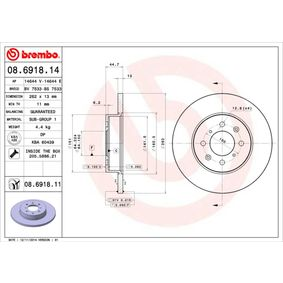 BREMBO Спирачен диск GBD90841 за LAND ROVER, ROVER, MG купете