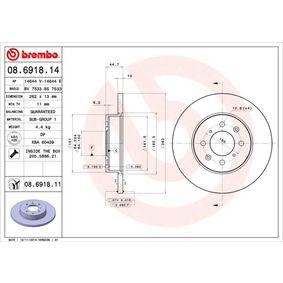 BREMBO Спирачен диск SDB100500 за ROVER, MG купете