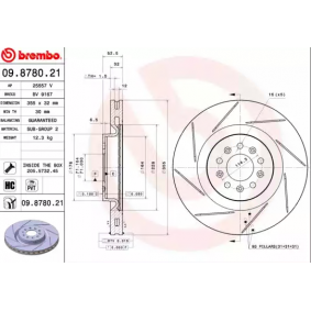 BREMBO Brake disc kit 09.8780.21