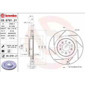 BREMBO Brake disc kit 09.8781.21