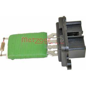 METZGER Resistor interior blower 0917211