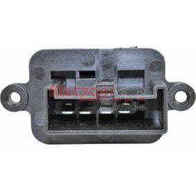 Blower motor resistor 0917211 METZGER