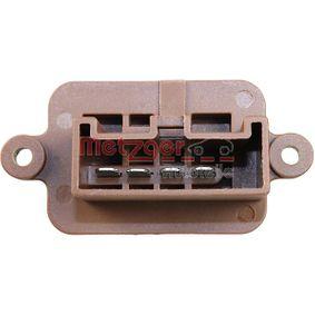 Blower motor resistor 0917259 METZGER
