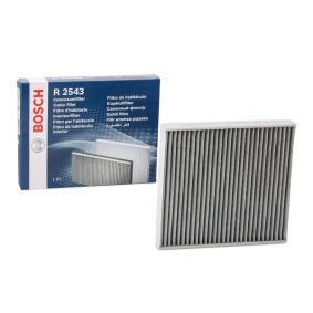 Filter, Innenraumluft BOSCH Art.No - 1 987 432 543 OEM: 5Q0819653 für VW, AUDI, SKODA, SEAT, MAN kaufen