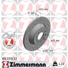 ZIMMERMANN Спирачен диск (100.3315.52) на ниска цена