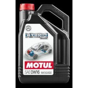 SAE-0W-16 Olio motore MOTUL 107154 negozio online
