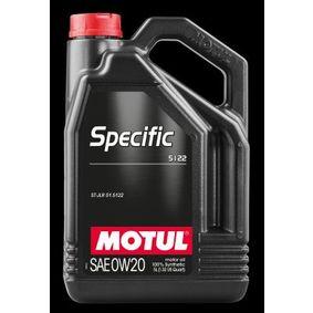 SAE-0W-20 Olio motore MOTUL 107339 negozio online
