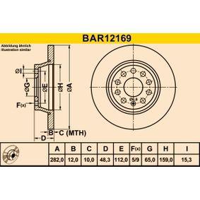Клапан, контрол на въздуха- засмукван въздух BAR12169 Barum