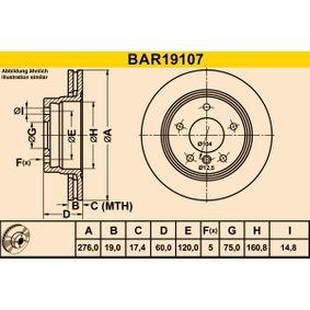 Barum Bremsscheibe 34211162315 für BMW, MINI bestellen