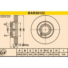 Barum Bremsscheibe 841615301 für VW, AUDI, FORD, SKODA, SEAT bestellen