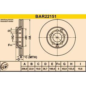 Barum Bremsscheibe (BAR22151) niedriger Preis