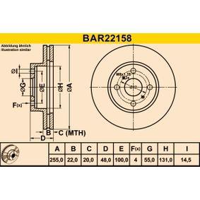 Barum Bremsscheibe 4351212550 für TOYOTA, SUZUKI, CHEVROLET, LEXUS, ISUZU bestellen
