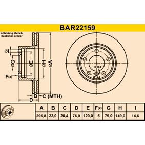 Stabilisatorstange BAR22159 Barum