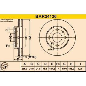 Striscia gommata, imp. gas scarico BAR24136 Barum