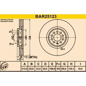 Barum Bremsscheibe 6R0615301B für VW, AUDI, SKODA, SEAT, ALFA ROMEO bestellen