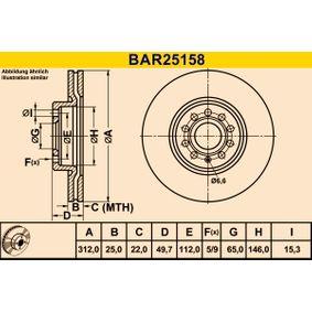 BARUM Bremsscheibe 1K0615301AA für VW, AUDI, SEAT, SKODA, MAZDA bestellen