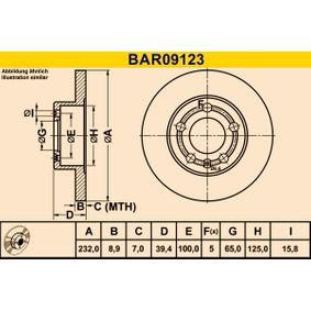 Disco de freno Barum BAR09123 populares para SEAT IBIZA 1.2 70 CV