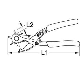118.0041 Lochzange von KS TOOLS Qualitäts Werkzeuge