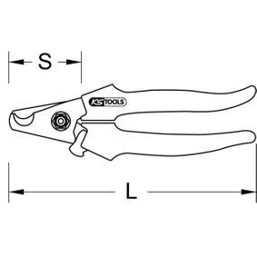 118.0073 Kabelschere von KS TOOLS Qualitäts Werkzeuge