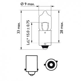 12036B2 Glühlampe, Blinkleuchte von PHILIPS Qualitäts Ersatzteile