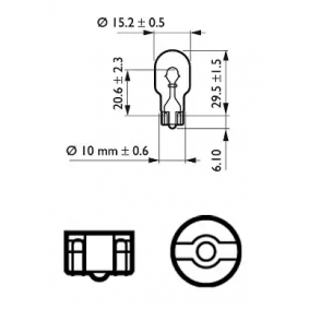12067CP Bulb, indicator from PHILIPS quality parts