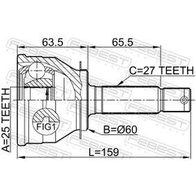 FEBEST Gelenk, Antriebswelle 4950738E00 für HYUNDAI, KIA bestellen