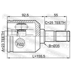 FEBEST Gelenk, Antriebswelle 495012D012 für HYUNDAI, KIA bestellen