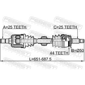 FEBEST Antriebswelle 495012D012 für HYUNDAI, KIA bestellen