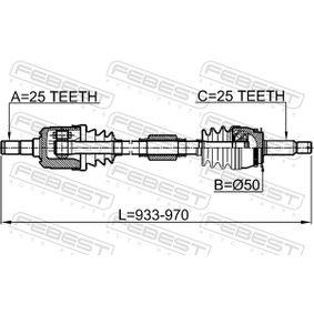 FEBEST Antriebswelle 495002D012 für HYUNDAI, KIA bestellen
