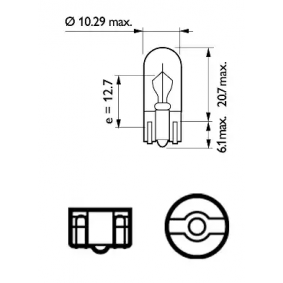 12256CP Bulb, indicator from PHILIPS quality parts