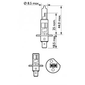 PHILIPS Glühlampe, Fernscheinwerfer, Art. Nr.: 12258PRC1