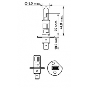 PHILIPS 12258PRC1 Glühlampe, Fernscheinwerfer OEM - N0177616 AUDI, VW günstig