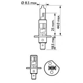 PHILIPS 12258XV+S2 Glühlampe, Fernscheinwerfer OEM - 5016710 FORD günstig
