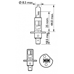 PHILIPS 12258XV+S2 Glühlampe, Fernscheinwerfer OEM - N0177616 AUDI, VW günstig